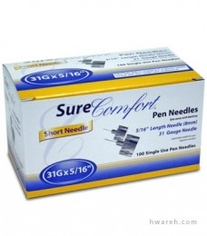 "SureComfort Pen Needle 31 Gauge, 5/16"", 100 Count"