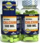 Natural (Oyster) Calcium 500 mg Tablet Value Pak - 2 X 100 Count Bottles