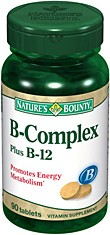 Natures Bounty B-Complex Plus B-12 - 90 Tablet Bottle