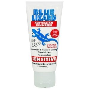 Blue Lizard Sensitive Australian Sunscreen SPF 30+ (3oz Bottle)