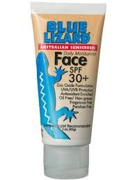 Blue Lizard Australian Sunscreen Face Cream SPF 30+ (3oz Bottle)