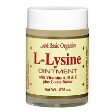 Basic Organics L-Lysine Cold Sore Ointment - 0.875 oz Tube
