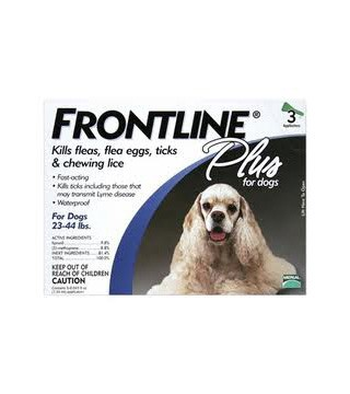 Frontline Plus for Dogs (23 - 44 lbs) - 3 Month Pack