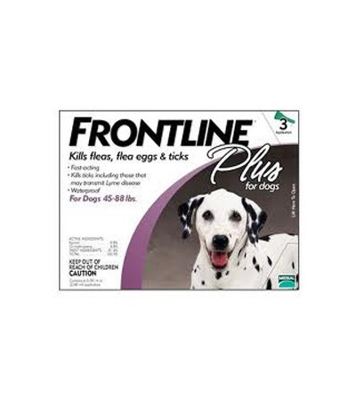 Frontline Plus for Dogs (45 - 88 lbs) - 3 Month Pack
