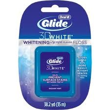 Oral-B Glide 3D White  Whitening Plus Scope Flavor Floss - Radiant Mint (38.2 yd)