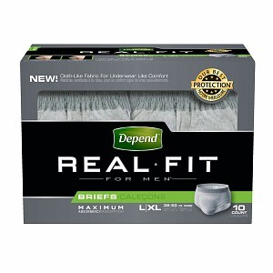 Depend Real Fit Underwear for Men Max Absorbency Gray Large/X-Large- 40/Case