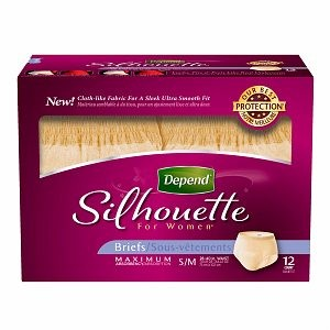Depend Silhouette Underwear For Women Max Absorbency Peach Small/Medium-48/Case