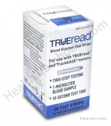 Trueread Blood Glucose Test Strips 50/Box
